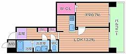UR都島リバーシティ13号棟[6階]の間取り