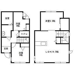 [テラスハウス] 北海道札幌市中央区宮の森二条2丁目 の賃貸【/】の間取り