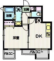 (仮称)目黒本町5丁目計画 3階1DKの間取り