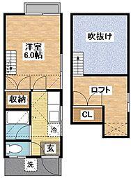 ハイツエコー[2階]の間取り