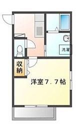 東武越生線 東毛呂駅 徒歩8分の賃貸アパート 2階1Kの間取り