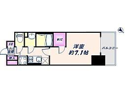 Osaka Metro中央線 朝潮橋駅 徒歩6分の賃貸マンション 13階1Kの間取り