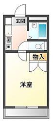 愛知県豊川市金屋橋町の賃貸アパートの間取り
