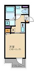 サニーヒルコート中野坂上 2階1Kの間取り