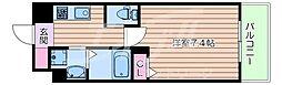 PLACZ SHIN-OSAKA 2階1Kの間取り