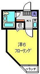 メゾンロワール横浜[105号室]の間取り