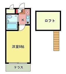 シティパレス千代田5[1階]の間取り