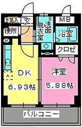 ローヤルマンション博多駅前[6階]の間取り