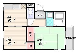 井辺ハイツ[3階]の間取り
