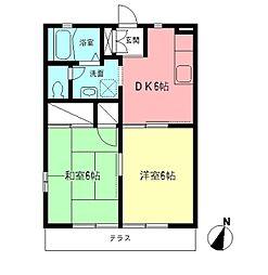 サンハイム湘南B[1階]の間取り