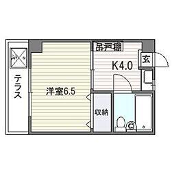 コーポ昭南[305号室]の間取り
