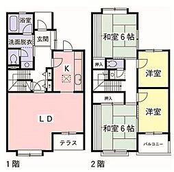 [テラスハウス] 東京都多摩市鶴牧4丁目 の賃貸【/】の間取り