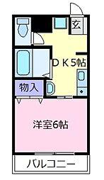大阪府羽曳野市高鷲2の賃貸マンションの間取り