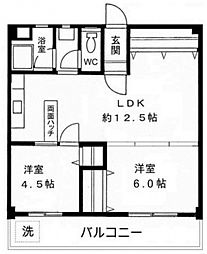 神奈川県横浜市青葉区荏田町の賃貸マンションの間取り
