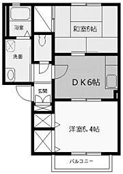 アムール太田[2階]の間取り