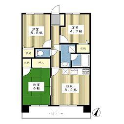 サンプラザ荏田[3階]の間取り