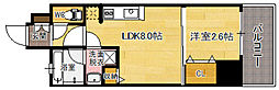 福岡県福岡市中央区大宮1丁目の賃貸マンションの間取り