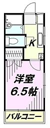 埼玉県所沢市くすのき台1丁目の賃貸アパートの間取り