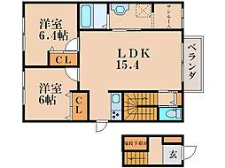 サンシャトウ[2階]の間取り
