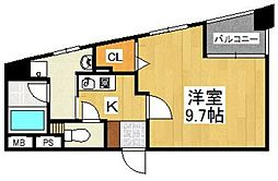 G−ONE MUROMI STATION[401号室]の間取り