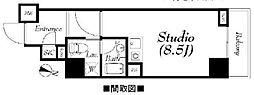 フィールA渋谷[413号室]の間取り