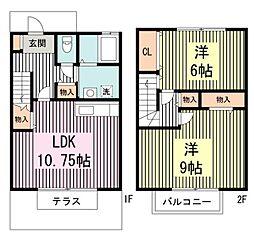 [テラスハウス] 東京都練馬区田柄4丁目 の賃貸【/】の間取り
