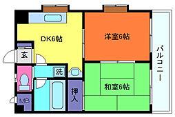 兵庫県神戸市灘区大内通5丁目の賃貸マンションの間取り