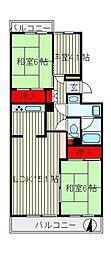 初石パークホームズC棟[4階]の間取り
