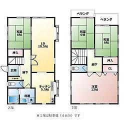 JR五日市線 秋川駅 徒歩27分の賃貸一戸建て 4LDKの間取り
