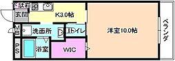 大阪府枚方市長尾谷町3丁目の賃貸マンションの間取り