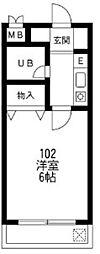 メゾンサトー[3階]の間取り