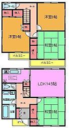 [一戸建] 千葉県市川市大洲4丁目 の賃貸【/】の間取り