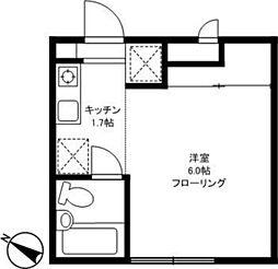 東京都世田谷区上馬4丁目の賃貸アパートの間取り