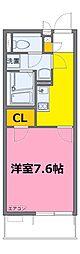 東武野田線 藤の牛島駅 徒歩22分の賃貸マンション 3階1Kの間取り