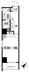 東京メトロ日比谷線 小伝馬町駅 徒歩1分の賃貸マンション 2階1Kの間取り