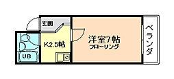 グレイスフル福島[4階]の間取り
