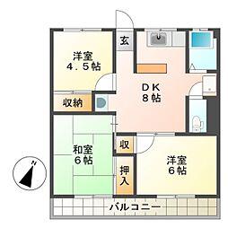 エールマンション[2階]の間取り
