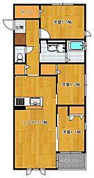 仮)野芥4丁目新築オートロック付アパート[201号室]の間取り
