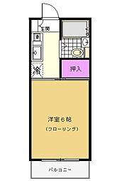 シャトール田口II[2階]の間取り