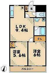 神奈川県川崎市麻生区片平5丁目の賃貸マンションの間取り