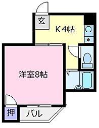 川辺ビル[1階]の間取り
