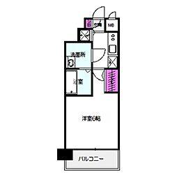 Osaka Metro長堀鶴見緑地線 京橋駅 徒歩8分の賃貸マンション 11階1Kの間取り