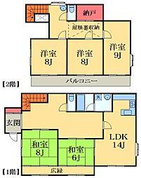 [一戸建] 千葉県市原市君塚3丁目 の賃貸【/】の間取り