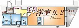 プレサンス神戸駅前グランツ[8階]の間取り