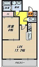 アステール野江[2階]の間取り