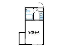 神奈川県厚木市愛甲の賃貸アパートの間取り