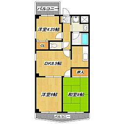 ノンナカーサ[3階]の間取り