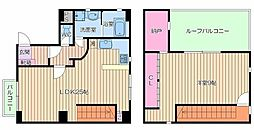 大阪府大阪市浪速区恵美須西1丁目の賃貸マンションの間取り