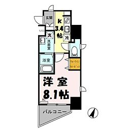 (仮)越谷プロジェクト 4階1Kの間取り