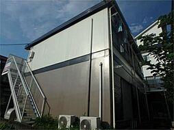 東京都日野市程久保2の賃貸アパートの外観